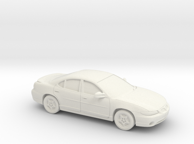 1/43  1997 Pontiac Grand Prix Sedan in White Natural Versatile Plastic