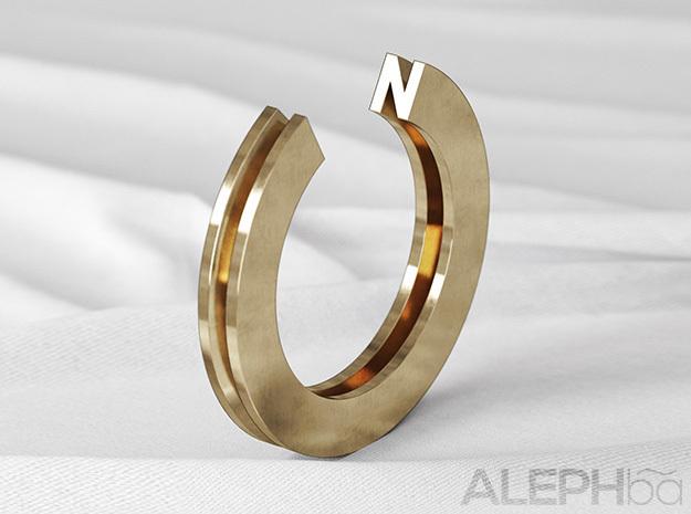 N Ring in Raw Bronze: 6 / 51.5