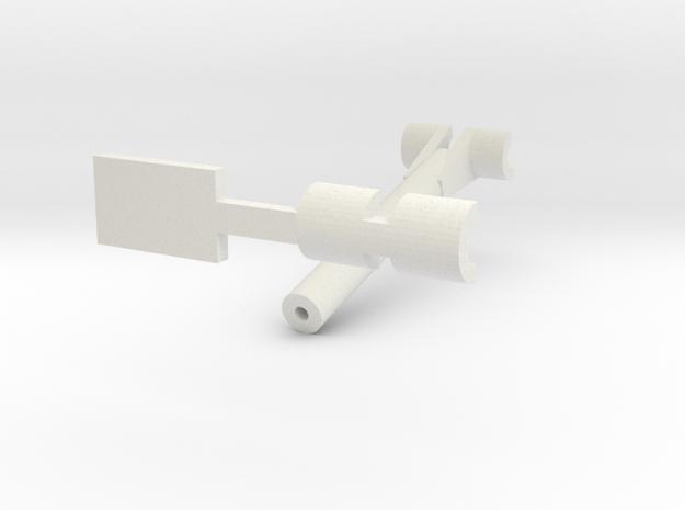 24-M-8 Katyusha Elevator and Support Pivot 1:35 in White Natural Versatile Plastic