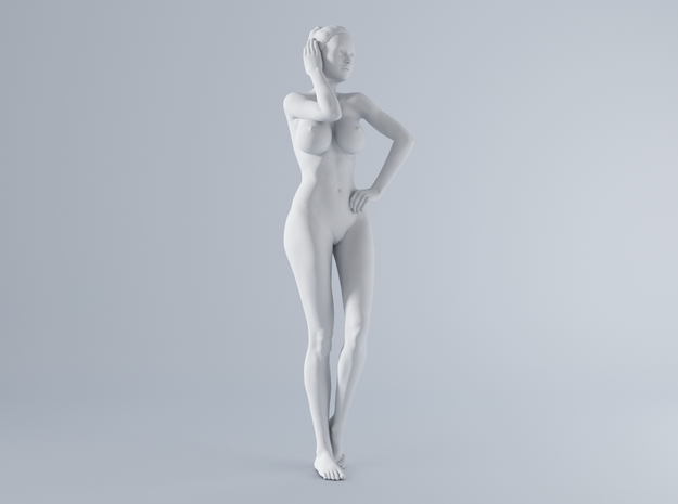 Mini Sexy Woman 017 1/64 in Smooth Fine Detail Plastic: 1:64 - S