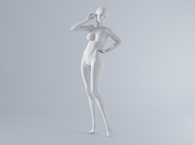 Mini Sexy Woman 038 1/64 in Smooth Fine Detail Plastic: 1:64 - S