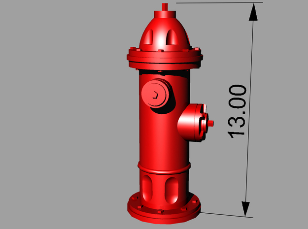 Hydrant type : A 1:72 16 Pcs 3d printed