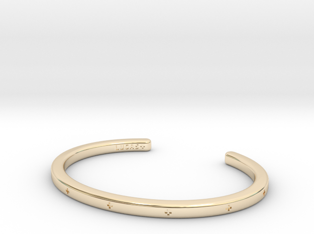 Plus Cuff  in 14k Gold Plated Brass: Small