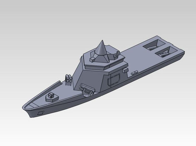 30SF01a 1:3000 l'Adroit / Hermes with MM40 Exocet  in Smooth Fine Detail Plastic