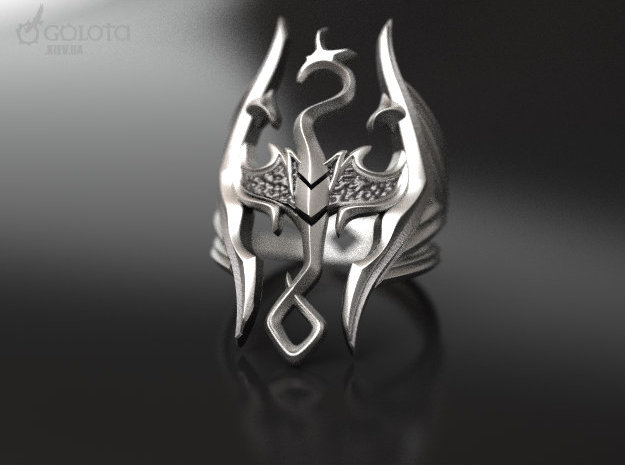 Skyrim Gothic Ring  in Stainless Steel: 7 / 54