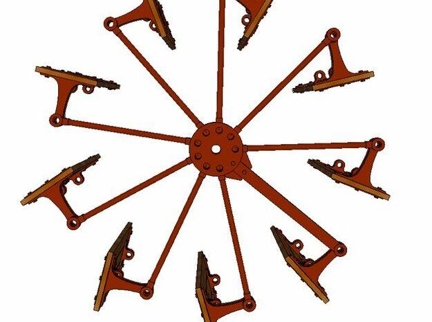 Paddlewheel Linkhub 3d printed