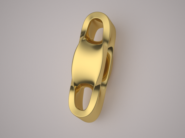 Triple Cube Gold 002 in 14K Yellow Gold