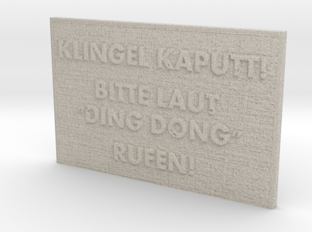 "Name Plate ""Ding Dong"" in Natural Sandstone"