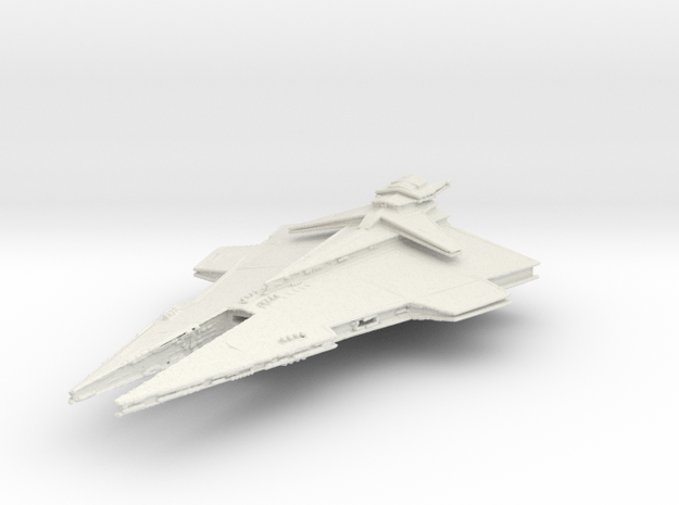 Republic Imperial Destroyer in White Natural Versatile Plastic
