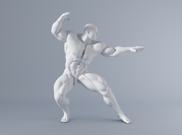 Mini Strong Man 1/64 021 in Smooth Fine Detail Plastic: 1:64 - S