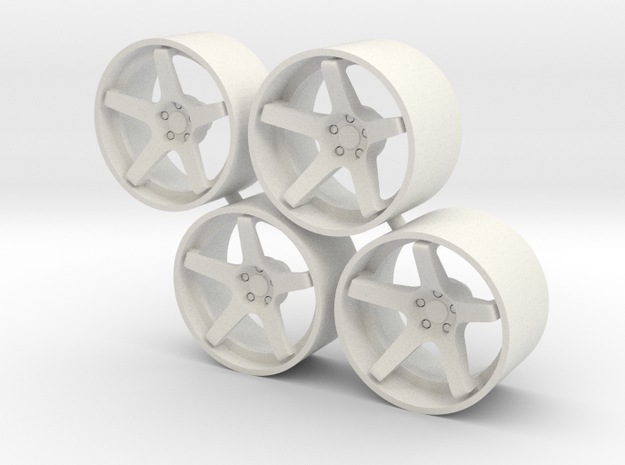 "Set Stance Wheels 21"" in White Natural Versatile Plastic"
