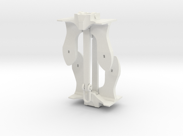2 inch - Anchor in White Natural Versatile Plastic