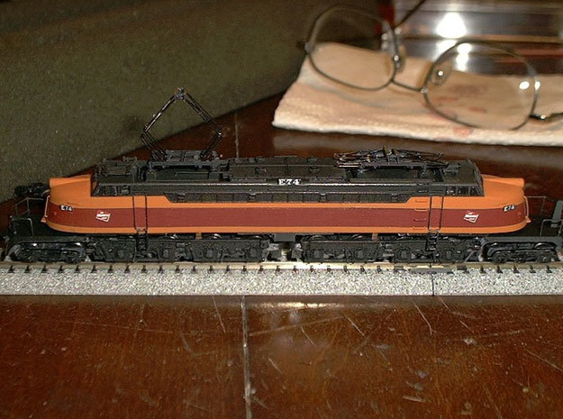NScale EF4 Little Joe, Milwaukee Road Early with F 3d printed Shapeways modeller SteamMonster's outstanding build of this model with modified GG1 chassis