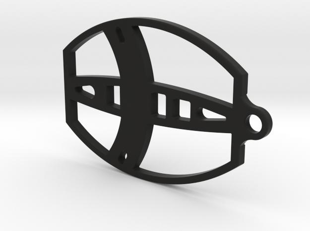 Metal Detector coil Keyring in Black Natural Versatile Plastic