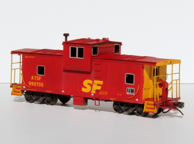 ATSF CE-8, CE-11 Caboose Body Kit in Smooth Fine Detail Plastic