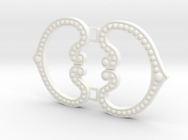 Padme Tatooine Cloak Clasp in White Processed Versatile Plastic