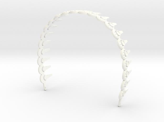 Padme Aqua Rhinestone Headband in White Processed Versatile Plastic