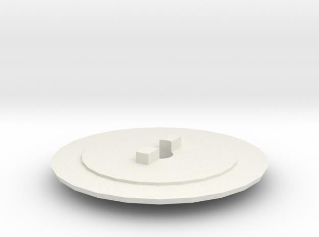 Brosekasten Wickelwalze in White Natural Versatile Plastic