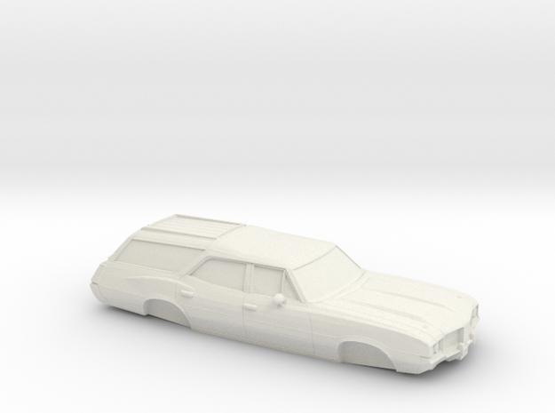 1/25 1968-72 OldsmobileVista Cruiser in White Natural Versatile Plastic