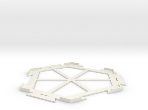 Settlers of Catan Tile Connector in White Natural Versatile Plastic