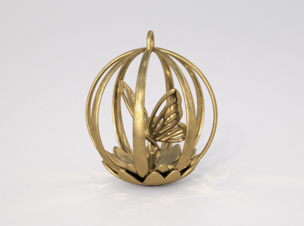 Butterfly Cage Pendant 3d printed Butterfly Cage Pendant