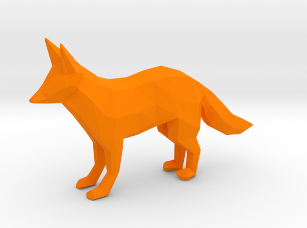 Red Fox in Orange Strong & Flexible Polished