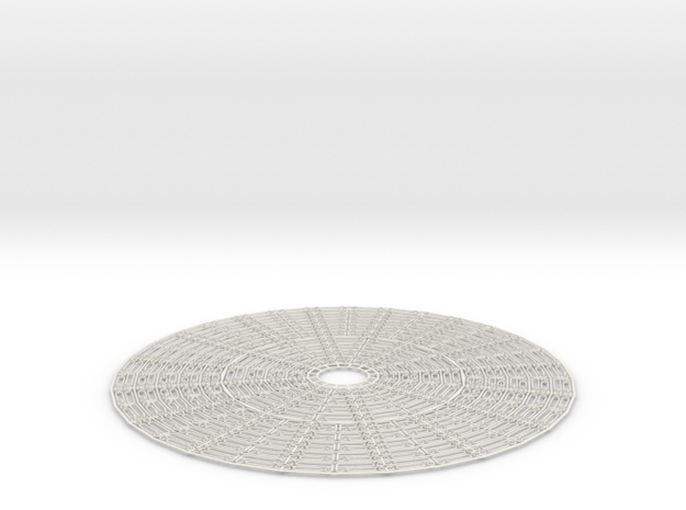 Hoop Pendant / Circle Ring Expandable Structure in White Strong & Flexible
