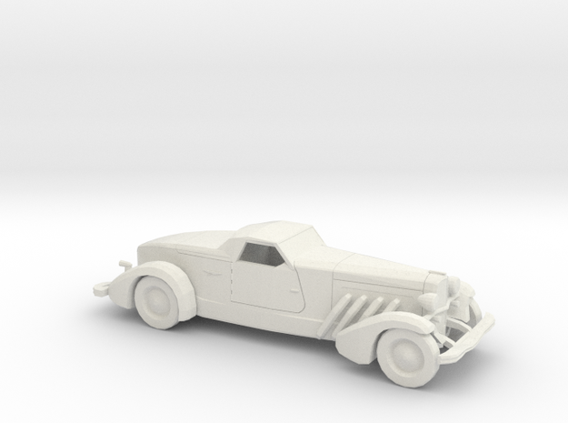 1/87 1935 Duesenberg Style Boattail in White Natural Versatile Plastic