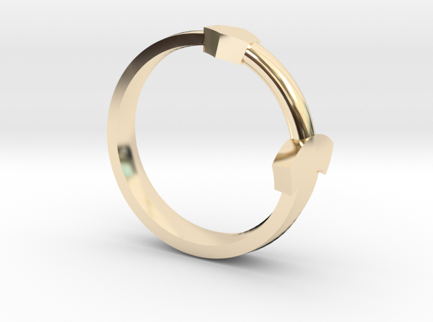 Sword Ring in 14k Gold Plated: 5.5 / 50.25