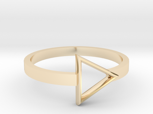 Triangle Ring in 14K Yellow Gold: 5.5 / 50.25