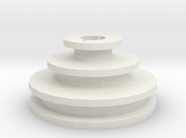 Unimat-type lathe motor pulley for 8mm shaft in White Natural Versatile Plastic