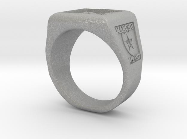 Ft. Lewis Manchus Square Ring in Aluminum