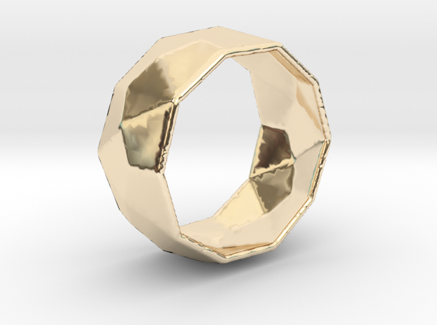 Octagonal Ring in 14k Gold Plated Brass: 5.5 / 50.25