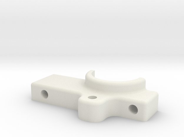 DBot Hot End Clamp in White Natural Versatile Plastic