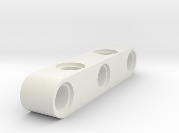5 Stud Cross Hole Beam in White Natural Versatile Plastic