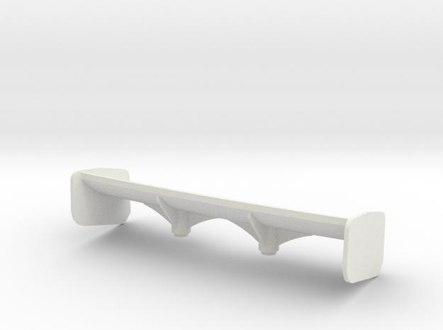 Aileron Mc Laren 12C petit appui Aéro in White Strong & Flexible