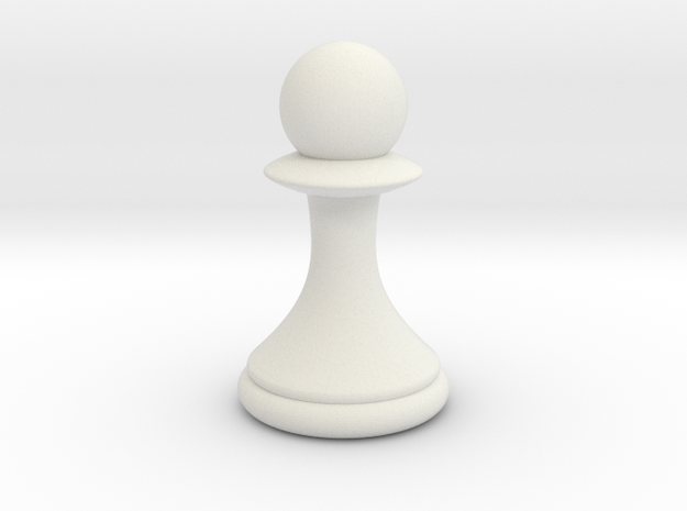 Pawns with Hats - Pawn in White Strong & Flexible: Small