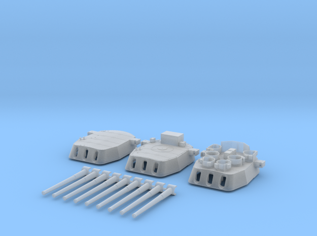 "1/350 16""/45 MKI HMS Nelson Turrets 1945 in Smooth Fine Detail Plastic"
