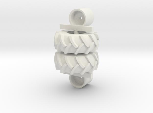 23.1-26 Tires in White Natural Versatile Plastic