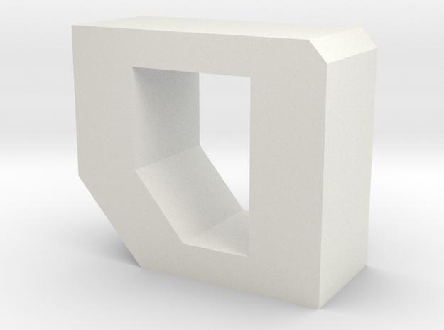 ROG font - O in White Natural Versatile Plastic
