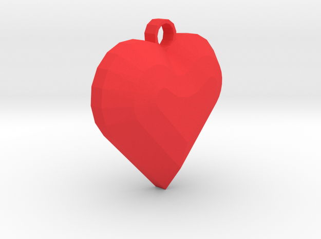 My Heart Pendant in Red Processed Versatile Plastic