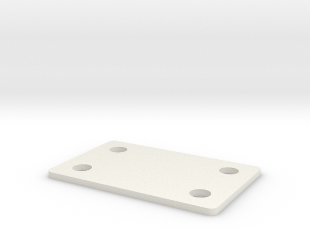 RC10B6 1mm Bulkhead Spacer in White Natural Versatile Plastic