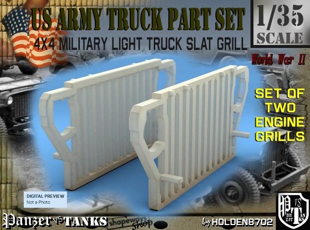 1-35 World War II US 4x4 Slat Grill