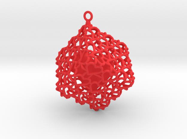 Heartcage in Red Processed Versatile Plastic