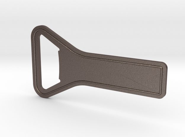 Quick Prying Bottle Opener in Polished Bronzed Silver Steel