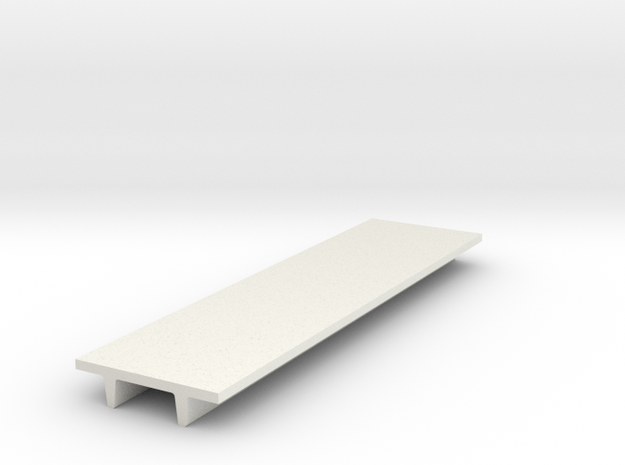"'N Scale' - 8' Wide Double Tee x 30' Long x 24"" De in White Natural Versatile Plastic"