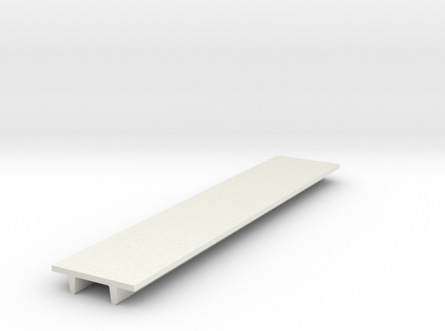 "'N Scale' - 8' Wide Double Tee x 40' Long x 24"" De in White Natural Versatile Plastic"