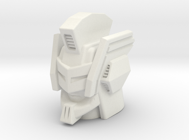 Nexus Prime head for CW Bruticus Small in White Natural Versatile Plastic