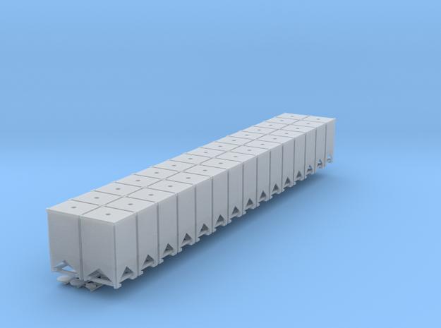 Flo Bin 87 30 Pack Flatcar Load Early in Smooth Fine Detail Plastic