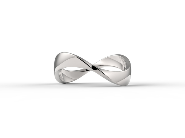 Infinity Ring in Fine Detail Polished Silver: 7 / 54